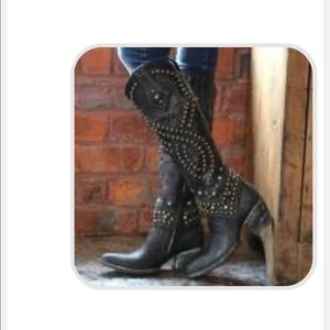 Shoes - Studded Cowboy Boots